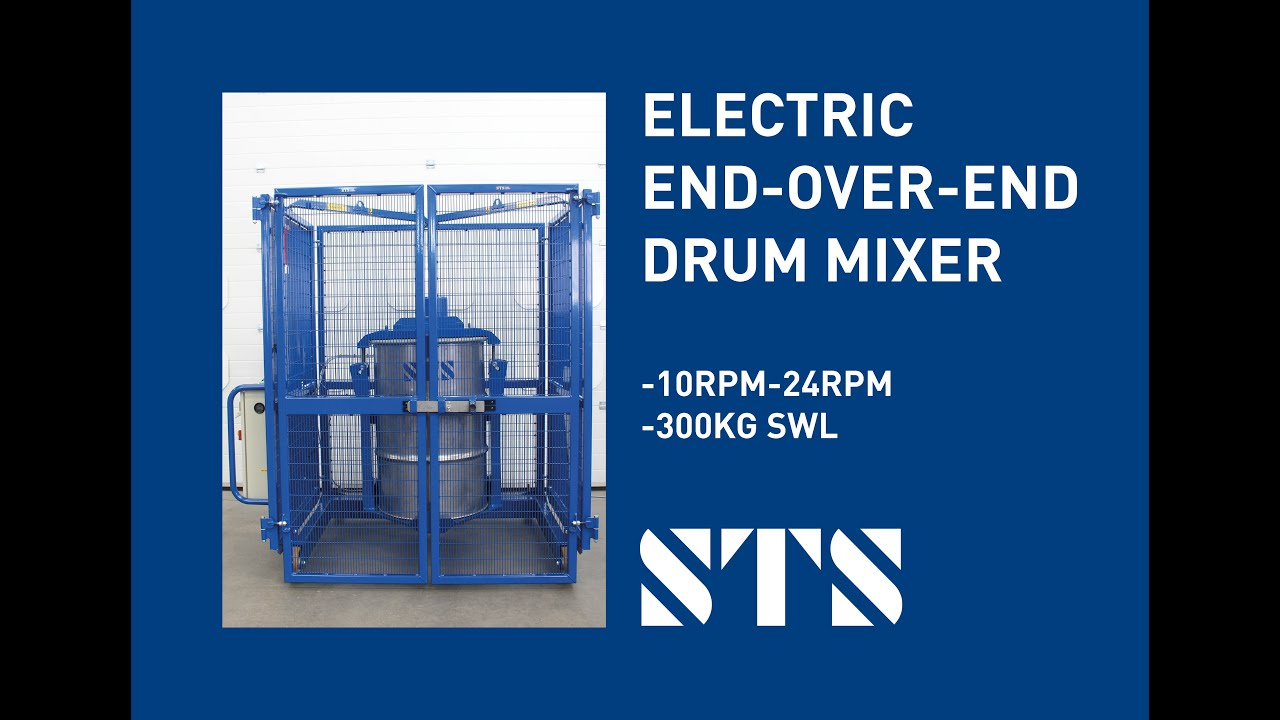 Electric End-Over End Drum Mixer (10-24RPM)