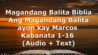 Download lagu (2) Magandang Balita Biblia - Marcos Kabanata 1-16 - Audio + Text