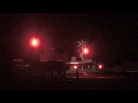 QRNational Container Train at Night - Freight Trains and Railroads in Australia