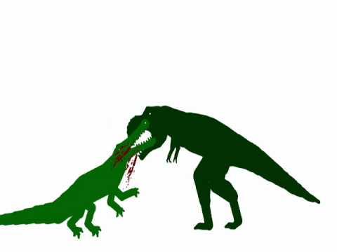 Dinosaur Face-off: Tyrannosaurus Rex vs Sarcosuchus - YouTube