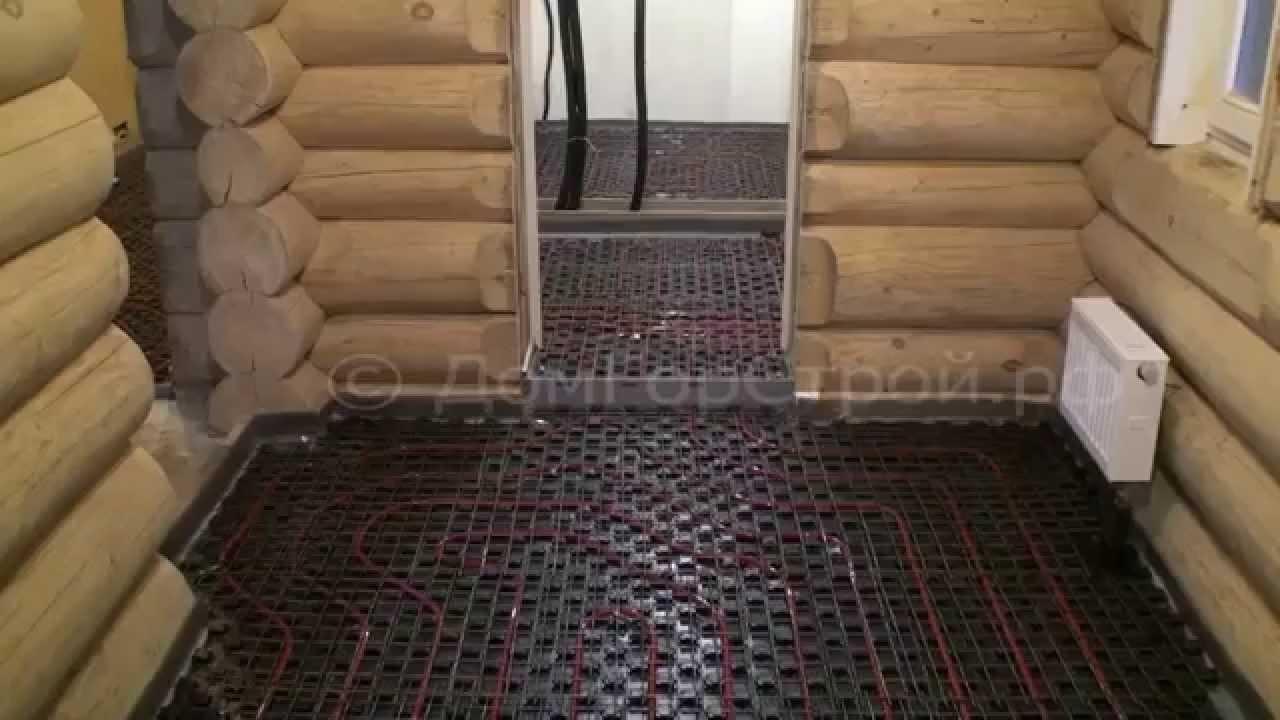 Как сделать водяные тёплые полы в деревянном доме своими руками фото 952