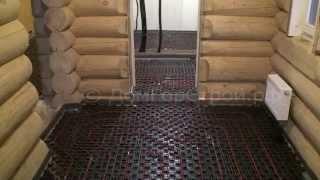 видео Правильный монтаж теплого пола в деревянном доме