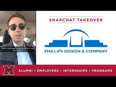 Alex's Corporate Finance Internship for Phillips Edison & Company in Cincinnati, OH