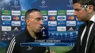 Interview Franck Ribéry après Valence - Bayern Munich