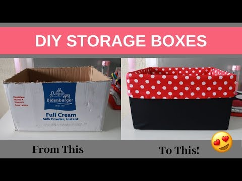 DIY | How to Make Storage Box from Cardboard Box.