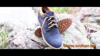 Мужские зимние ботинки из нубука на натуральном меху Este Track Blue. Видео-обзор мужской обуви.