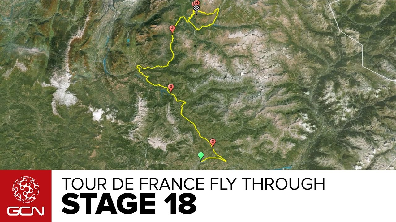 Tour De France Stage 18 Fly Through