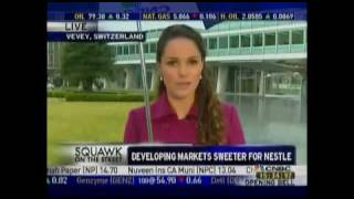 Carolin Schober reporting on Nestle for CNBC's Squawk on the Street
