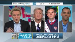 Ronan Farrow on Americans and soccer part 1