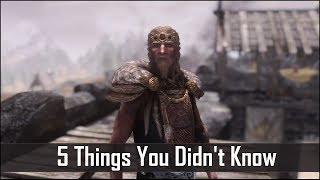 Skyrim: 5 Things You Probably Didn