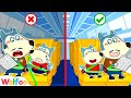 Wolfoo! Wear Your Seatbelt on the Airplane to Be Safe - Learn Safety Tips for Kids | Wolfoo Channel