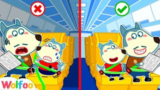 Wolfoo! Wear Your Seatbelt on the Airplane to Be Safe  Learn Safety Tips for Kids | Wolfoo Channel