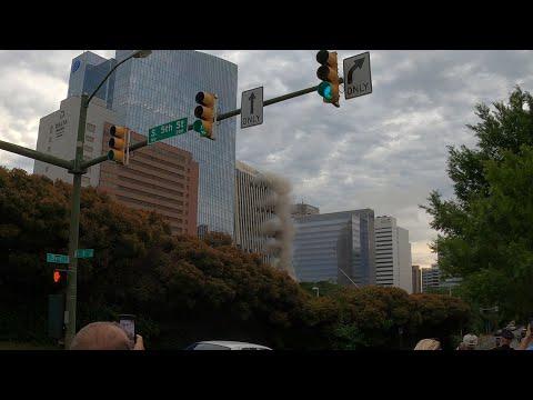 Dominion Offices Building Implosion Richmond VA