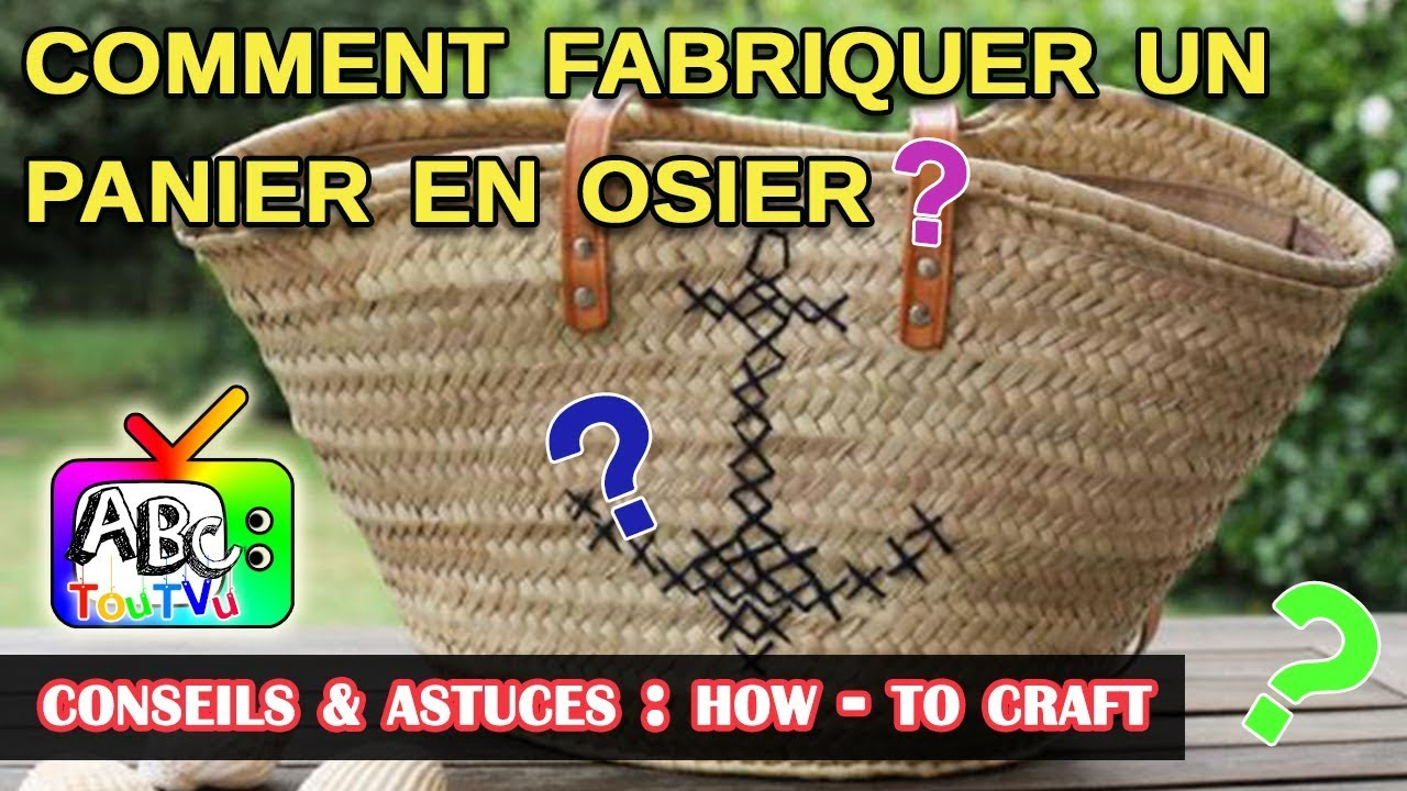 how to craft comment fabriquer un panier en osier youtube. Black Bedroom Furniture Sets. Home Design Ideas