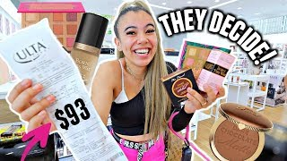 Download LETTING THE PERSON IN FRONT OF ME DECIDE MY MAKEUP AT ULTA! Mp3 and Videos