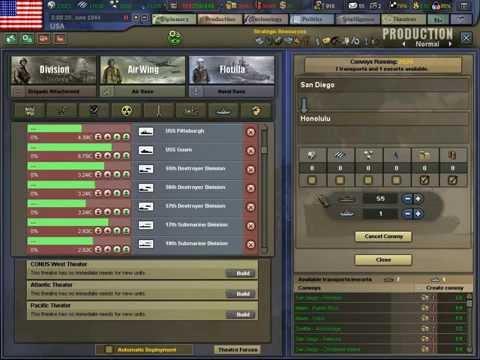 คำสั่งและวิธีการเล่นเบื่องต้นของเกมส์ Hearts of Iron III (HOI3)