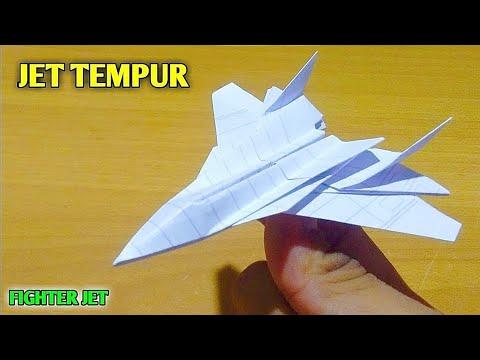 ORIGAMI - Cara Membuat Pesawat Kertas Origami F 15 Eagle Jet   Origami Paper video kali ini akan update seputar mainan....