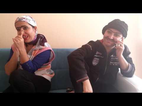 Şırnaklı iki sevgilinin telefon konuşması komik taklit dublaj