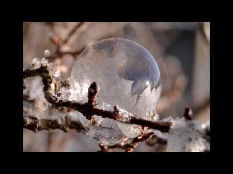 Seifenblasen werden zu Eis
