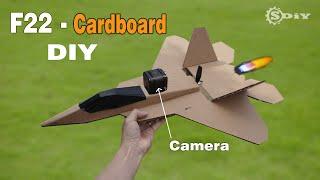 Cardboard RC Airplane DIY - F22 Raptor l S-DiY