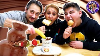 EKLIGE Chocolate Fondue Challenge - Family Fun