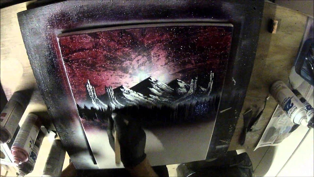 spray paint art on canvas youtube. Black Bedroom Furniture Sets. Home Design Ideas