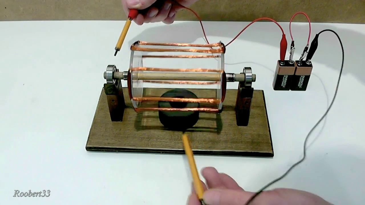 Rotation Electric Motor Easy Homemade Youtube Elec Wiring
