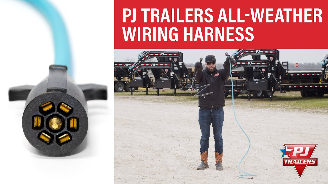 pj trailers all weather wiring harness [ 1280 x 720 Pixel ]