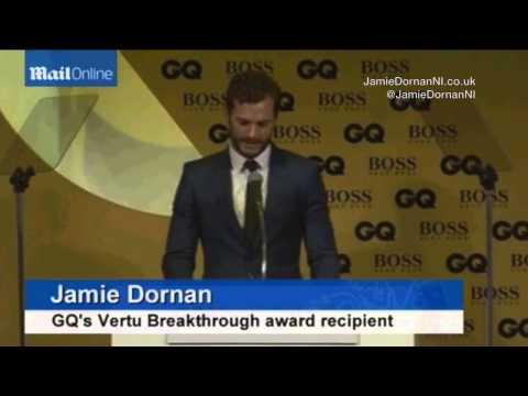 Jamie Dornan - GQ Award Winners Acceptance Speech 2014