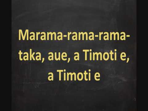 Maori Calendar Song - Maramataka Lyrics On Screen