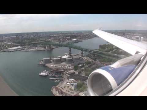 Awesome HD JetBlue Airbus A320 Landing In Boston!!!