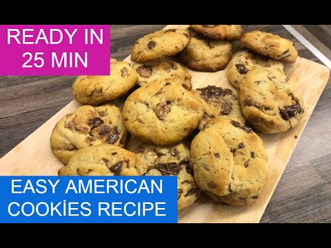 easy-homemade-american-cookies-recipe-|-delicious-cookies-with-chocolate-ready-in-25-minutes
