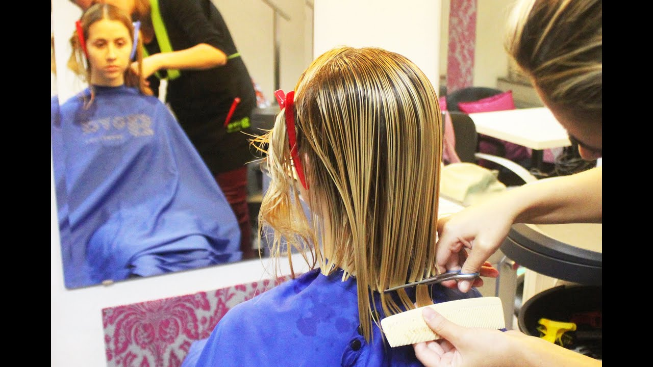 salon hair cut styles a student getting a renewed classic bob haircut 3537