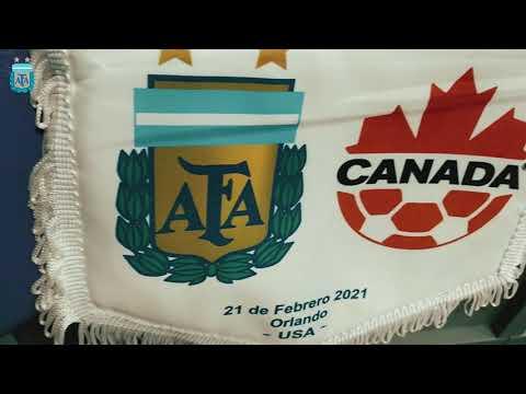 #SheBelievesCup Llegada de Argentina el Exploria Stadium