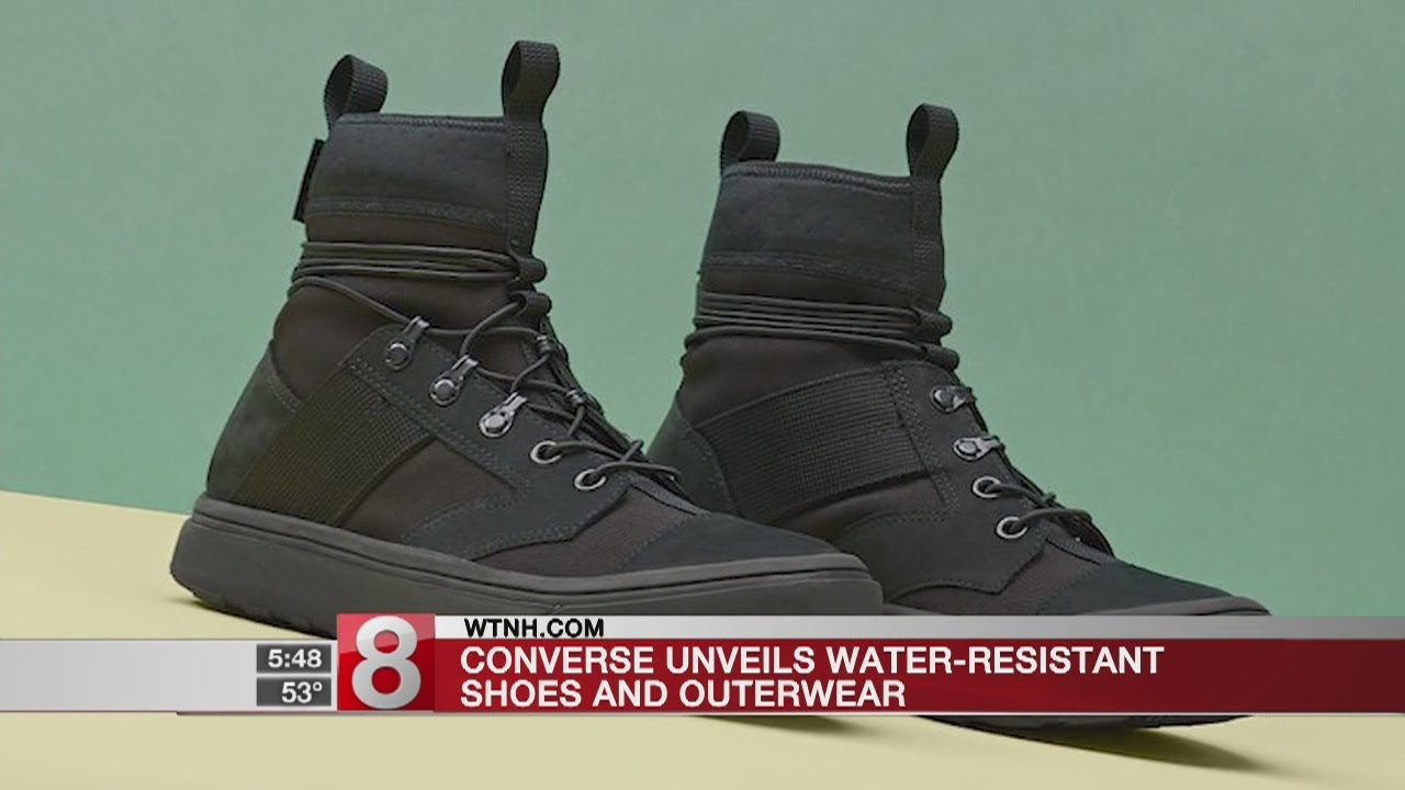 3686cb689c4 Converse unveils water-resistant shoes and outerwear - YouTube