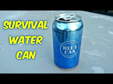 World's First Survival Water Can