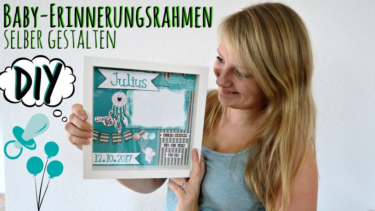baby rahmen basteln shadowbox diy erinnerungsrahmen. Black Bedroom Furniture Sets. Home Design Ideas