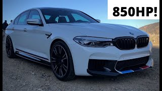 homepage tile video photo for This BMW M5 has 85% of a Veyron's Power for 1/10th the Price - One Take
