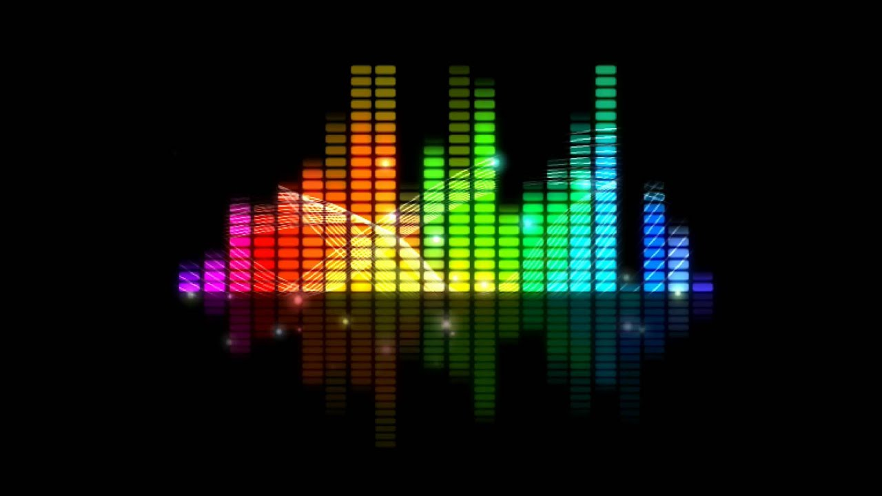 Colorful sound level animation free youtube for House music sounds