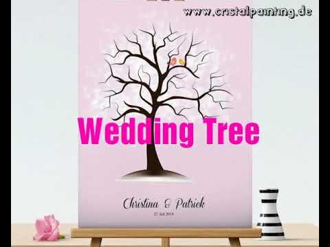 Wedding Tree Hochzeitsbaum Fingerabdruck Baum Design