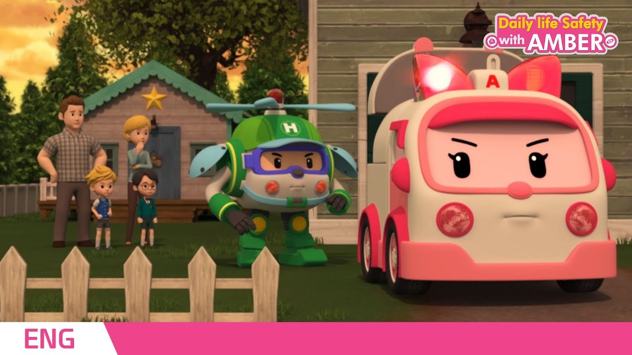 Download 🚨 Daily life Safety with AMBER | EP 01~26 | Robocar POLI | Kids animation