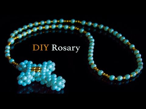 DIY | Beaded rosary making | beads art