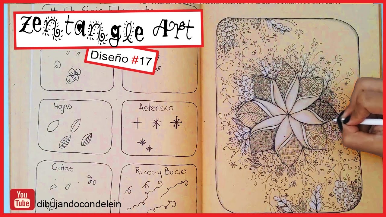 Como Dibujar Zentangle Art Paso A Paso 17 Zentangle Pattern Youtube