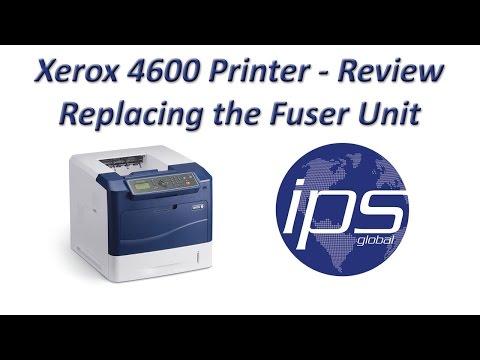 Xerox 4600 - Review Replacing Fuser Unit