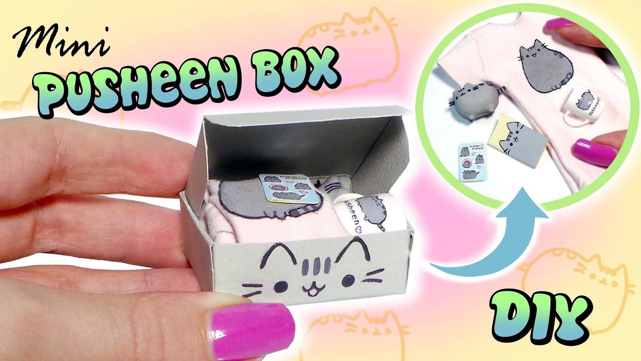 Miniature Pusheen Subscription Box Tutorial Diy Dolls