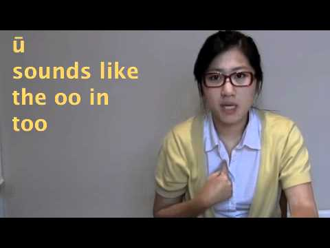 Learn to speak Mandarin chinese online - pin yin vowels
