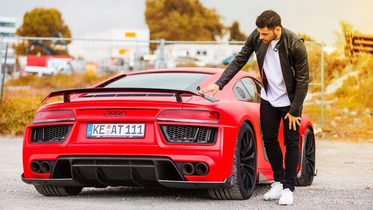 Mit Kevin Volland Im Abt Audi R8 Durch D 220 Sseldorf Youtube