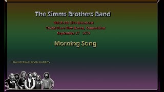 Simms Brothers Band - Morning Song - WPLR Broadcast