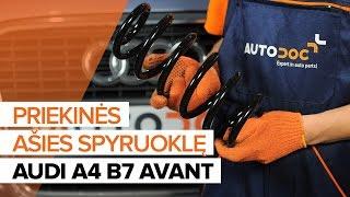 Kaip pakeisti Spyruoklės AUDI A4 Avant (8ED, B7) - vaizdo vadovas