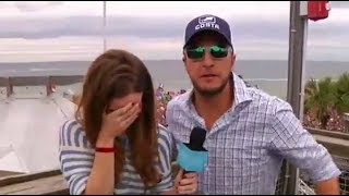 Luke Bryan and Jeannie in Panama City, Florida on Ellen